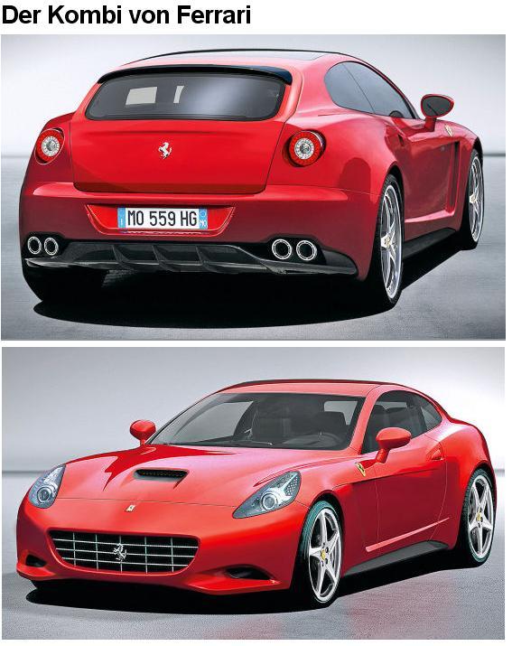 Schnelle Autos Neue Bilder Vom Ferrari Kombi
